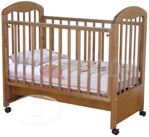 Детская кроватка на колесиках Красная звезда Можга Тимоша С 313