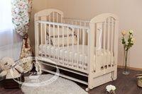 Детская кроватка с поперечным маятником Красная звезда Можга Агата С 718