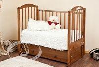 Детская кроватка с продольным маятником Красная звезда Можга Регина С 580