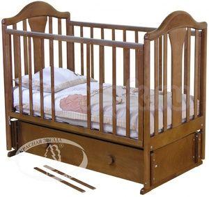 Детская кроватка с продольным маятником Красная звезда Можга Карина С 555