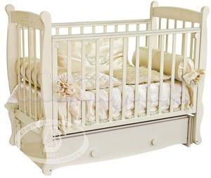 Детская кроватка с продольным маятником Красная звезда Можга Елисей С 717