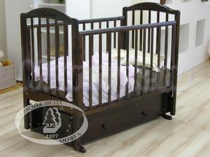Детская кроватка с универсальным маятником Красная звезда Можга Руслан С 725