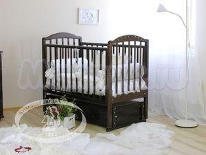Детская кроватка с продольным маятником Красная звезда Можга Регина С 602