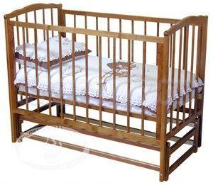 Детская кроватка с продольным маятником Красная звезда Можга Кристина С 614