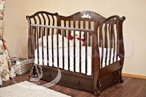 Детская кроватка с продольным маятником Красная звезда Можга Юлиана С 757