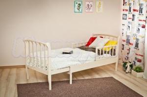 Детская кровать-трансформер раздвижная с барьером Красная звезда Можга Савелий С 823