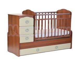 Детская кровать-трансформер на маятнике СКВ-9 Птички