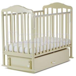 Детская кроватка с маятником и ящиком СКВ Березка NEW