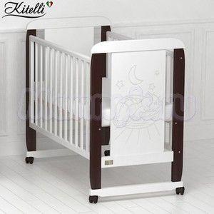 Детская кроватка Kitelli Micio (колеса-качалка)
