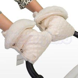 Муфта-рукавицы Esspero Karolina на коляску (100% овечья шерсть)